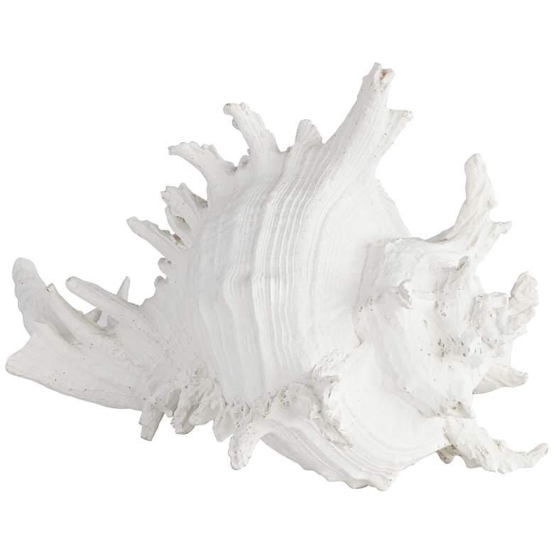 "Oceana White 8 1/2"" Wide Sea Shell Sculpture"
