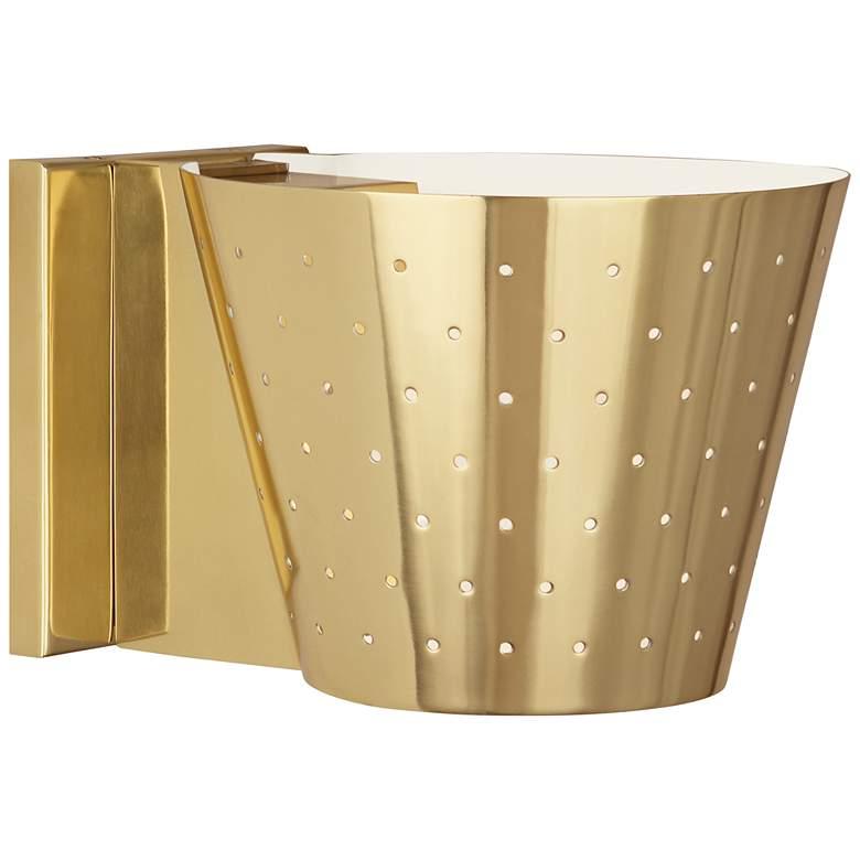 """Robert Abbey Pierce 6"""" High Modern Brass Wall Sconce"""