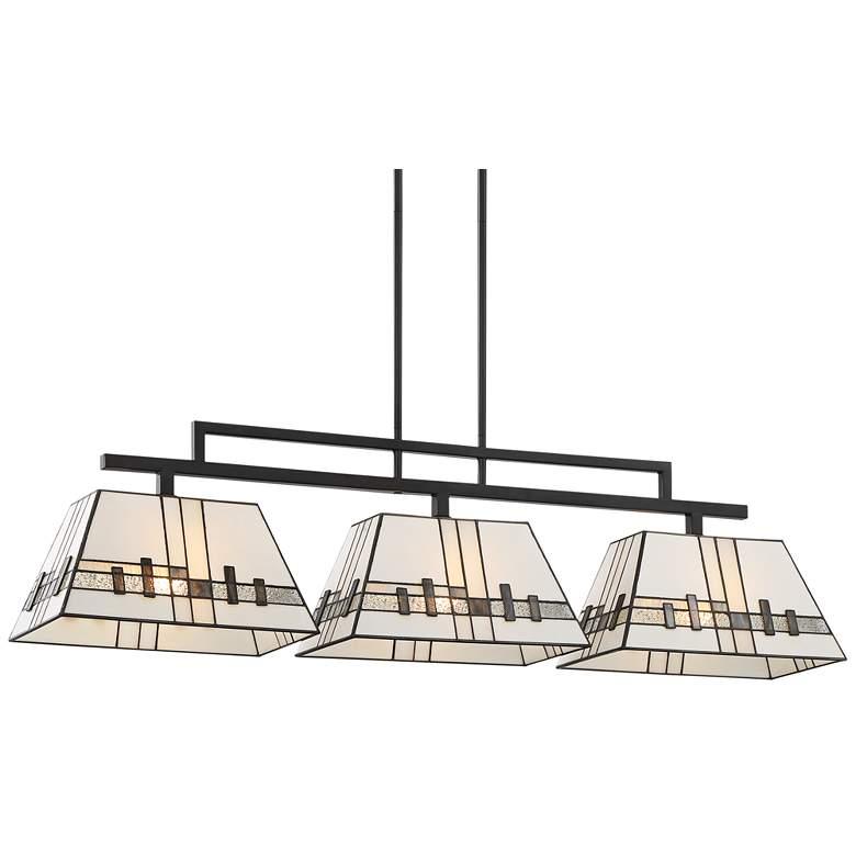 "Corvallis 45 3/4"" Wide Art Glass Kitchen Island Light Pendant"