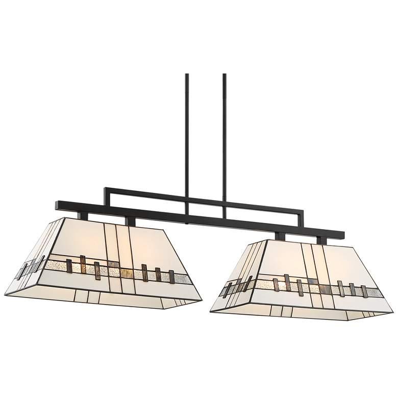 "Corvallis 46"" Wide Art Glass Kitchen Island Light Pendant"