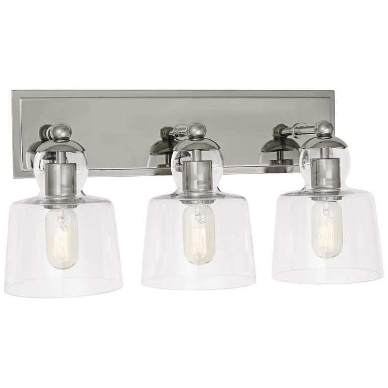 "Albert 20 1/2"" Wide Polished Nickel 3-Light Bath Light"