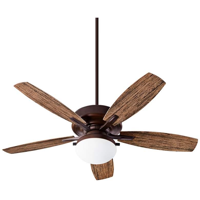 """52"""" Quorum EdenOiled Bronze LED Patio Ceiling Fan"""