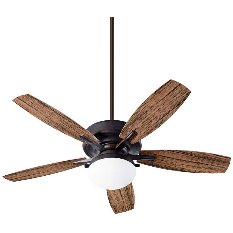 """52"""" Quorum Eden Toasted Sienna LED Patio Ceiling Fan"""