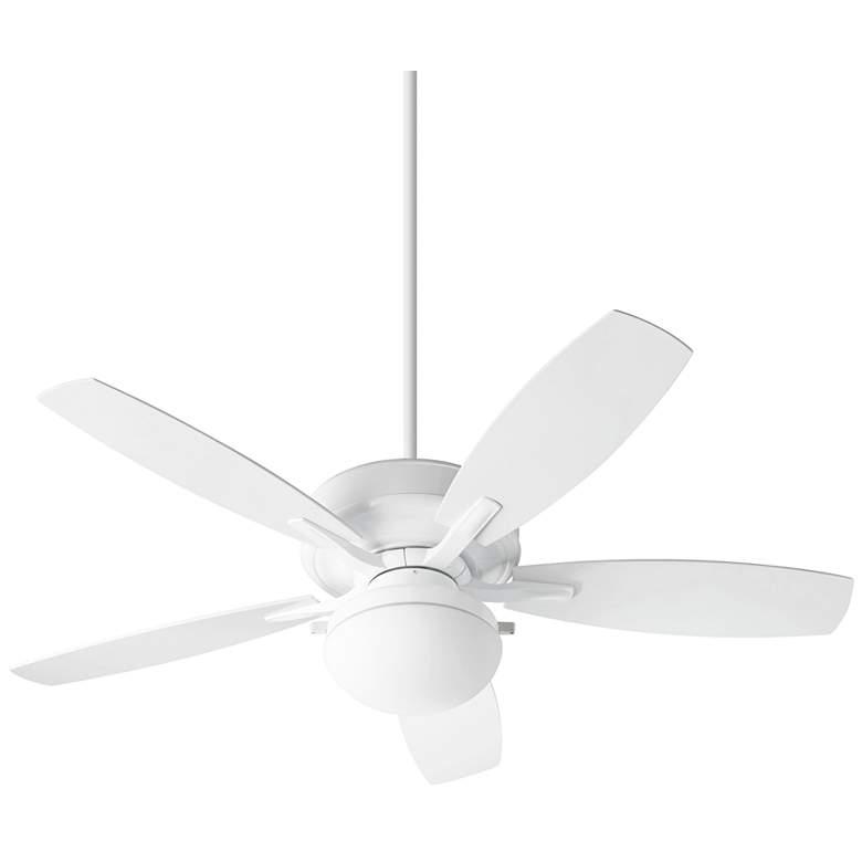 "52"" Quorum Eden White LED Patio Ceiling Fan"