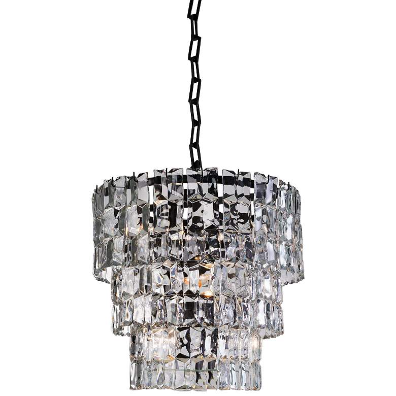 "Global Views Prism 25""W Bronze 3-Tier Glass Pendant Light"