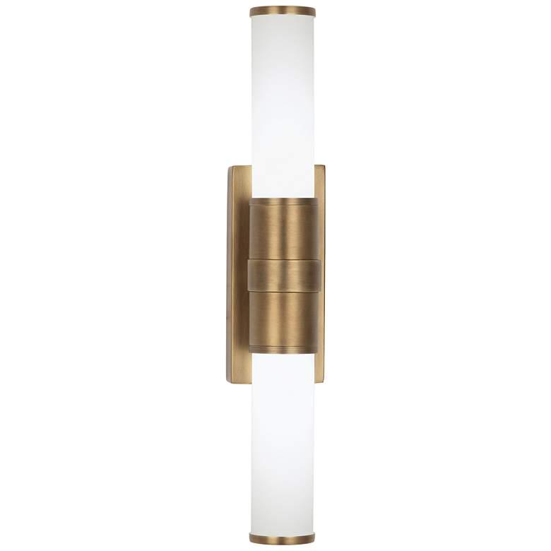 """Roderick 16 1/2"""" High Warm Brass 2-Light LED Wall Sconce"""