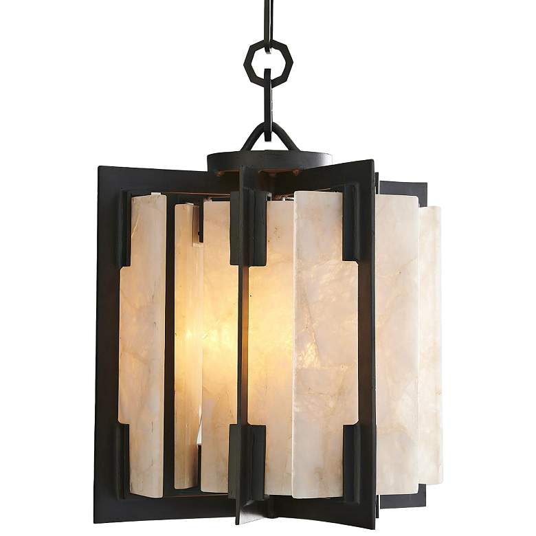 "Global Views Quartz Hall 16"" Wide Bronze Pendant Light"