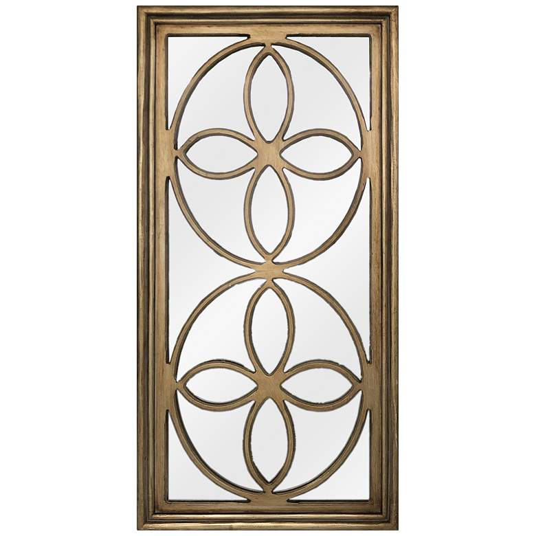 "Crestview Collection Bella Gold 24""x47 3/4"" Wall Mirror"