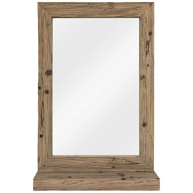 "Toby Natural Wood 24"" x 36 1/2"" Rectangular Wall Mirror"