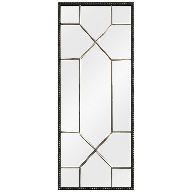 "Crestview Collection Leath Iron 16 1/4"" x 40"" Wall Mirror"