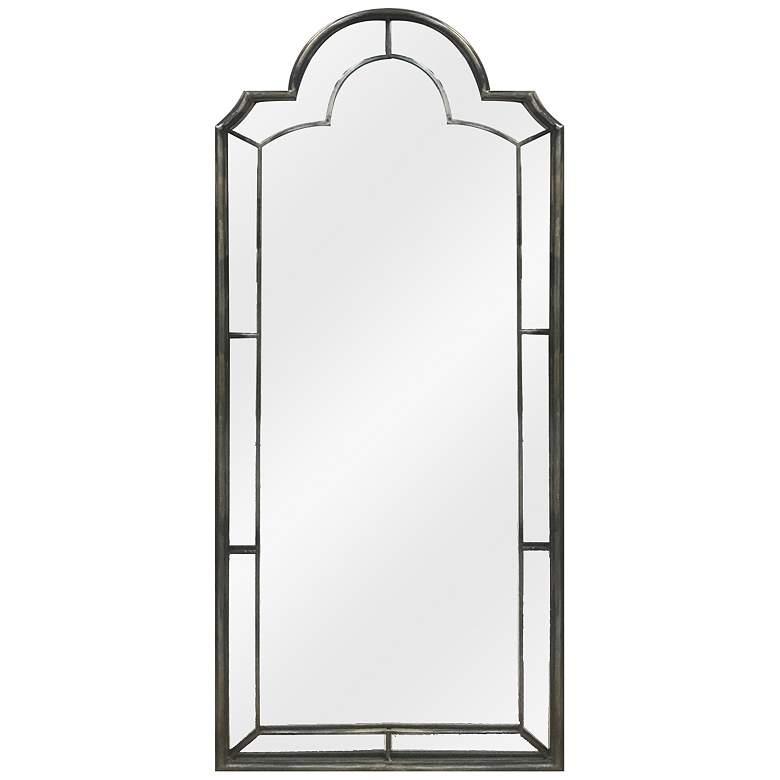 "Belmont Iron 20"" x 7 1/4"" Arch Top Wall Mirror"