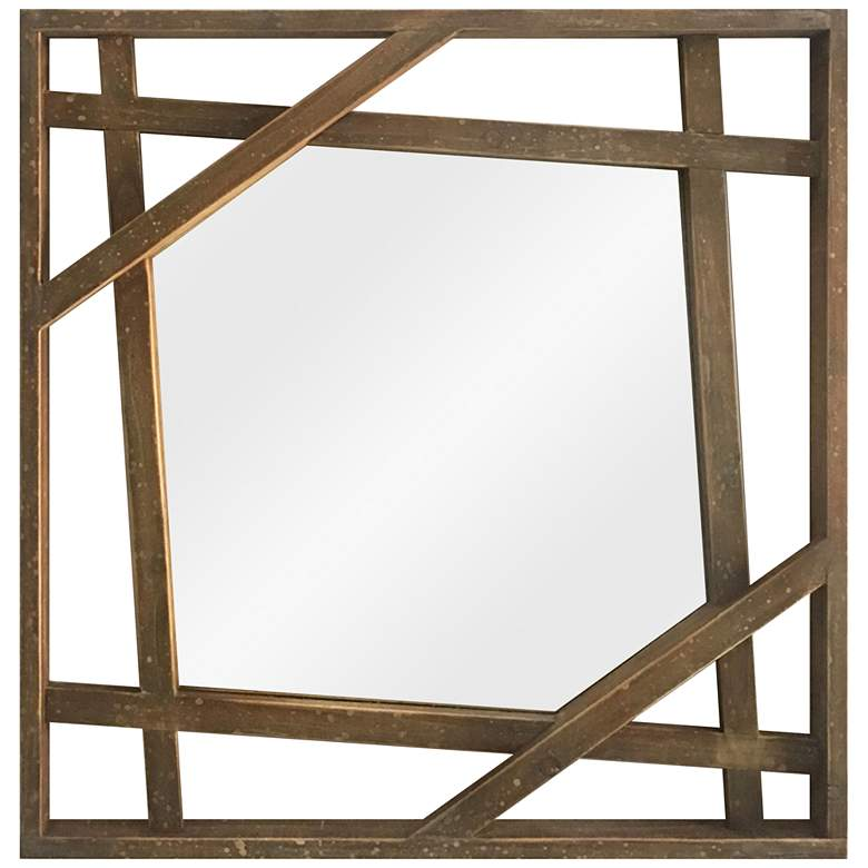 "Transit Reflection Wood 28"" Square Wall Mirror"