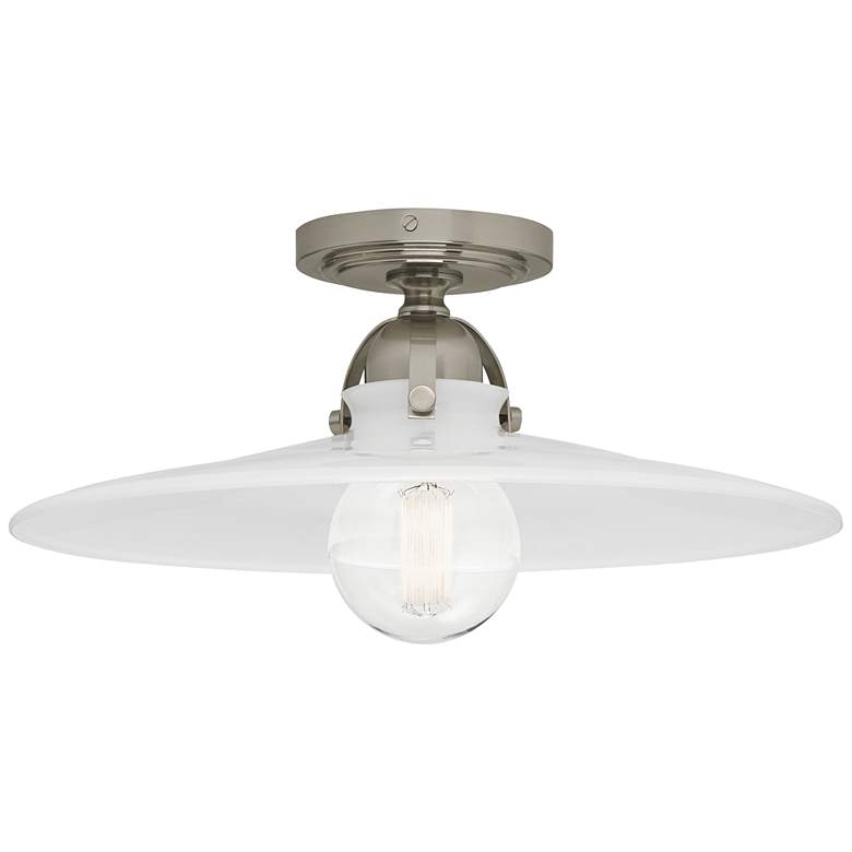 """Robert Abbey Arial 16"""" Wide Polished Nickel Ceiling Light"""