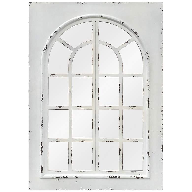 "Lindsay White Wood 32"" x 48"" Rectangular Wall Mirror"