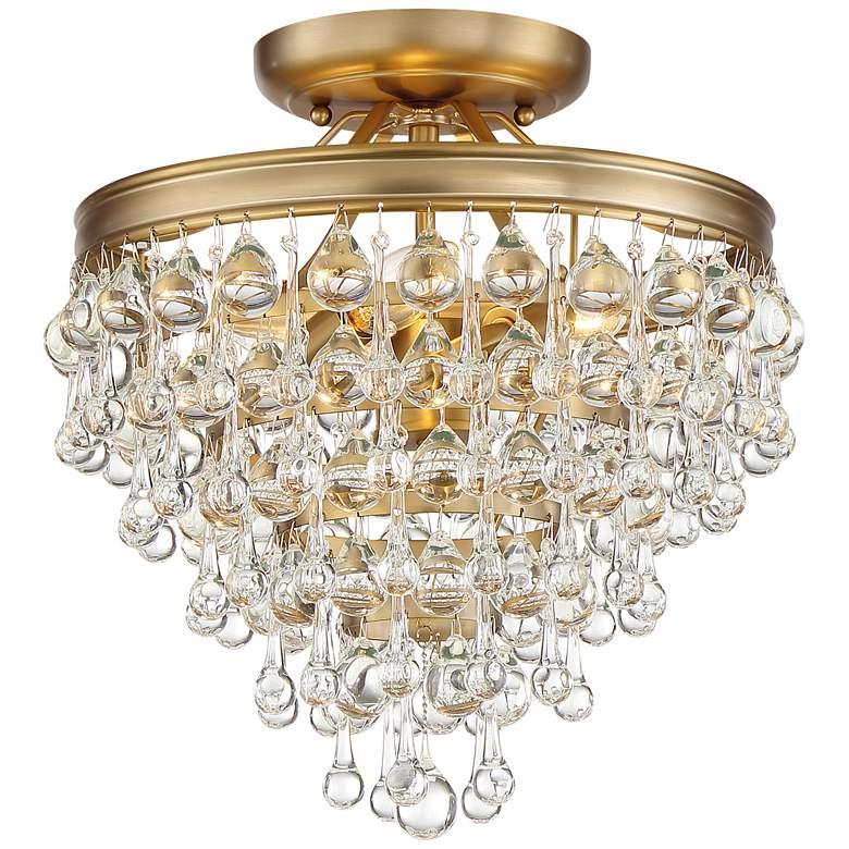 "Crystorama Calypso 12"" Wide Vibrant Gold Ceiling Light"