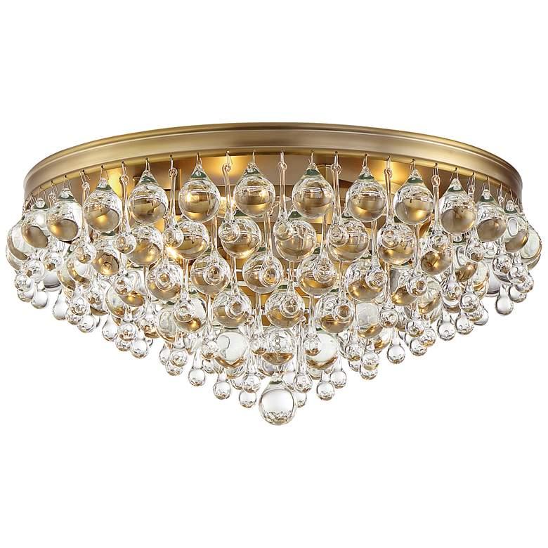 "Crystorama Calypso 20"" Wide Vibrant Gold Ceiling Light"