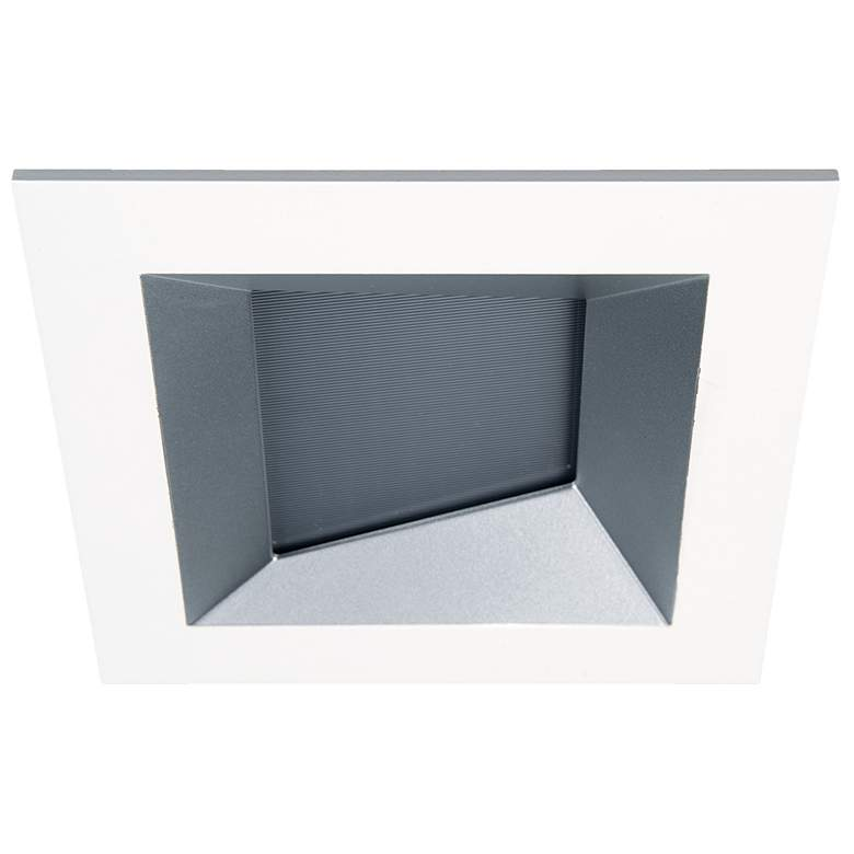"""Oculux Architectural 3 1/2"""" Square Haze White Wall"""