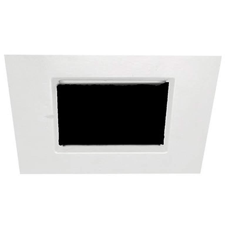 "Oculux Architectural 3 1/2"" Square White Pinhole Downlight"