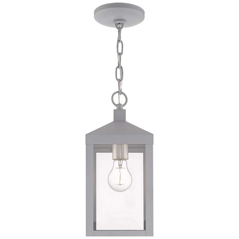 "Nyack 6 1/4""W Nordic Gray Outdoor Lantern Mini Pendant Light"
