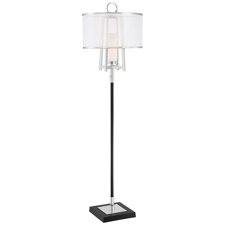 Possini Euro Monterey Floor Lamp with Organza Shade