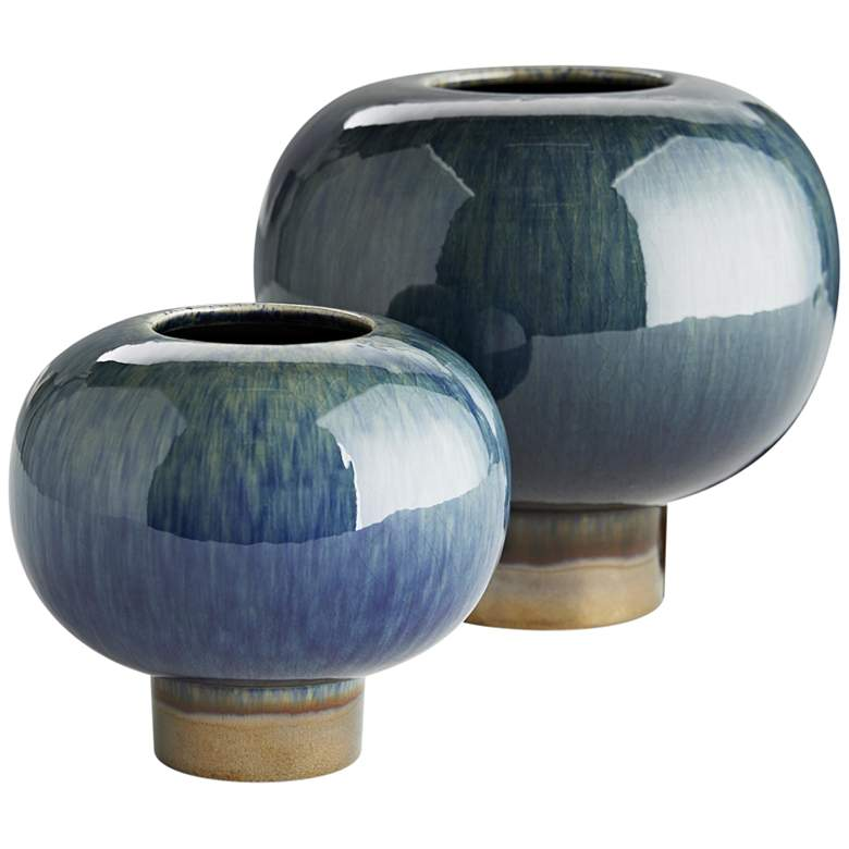 Arteriors Home Tuttle Peacock and Bronze Vases Set of 2