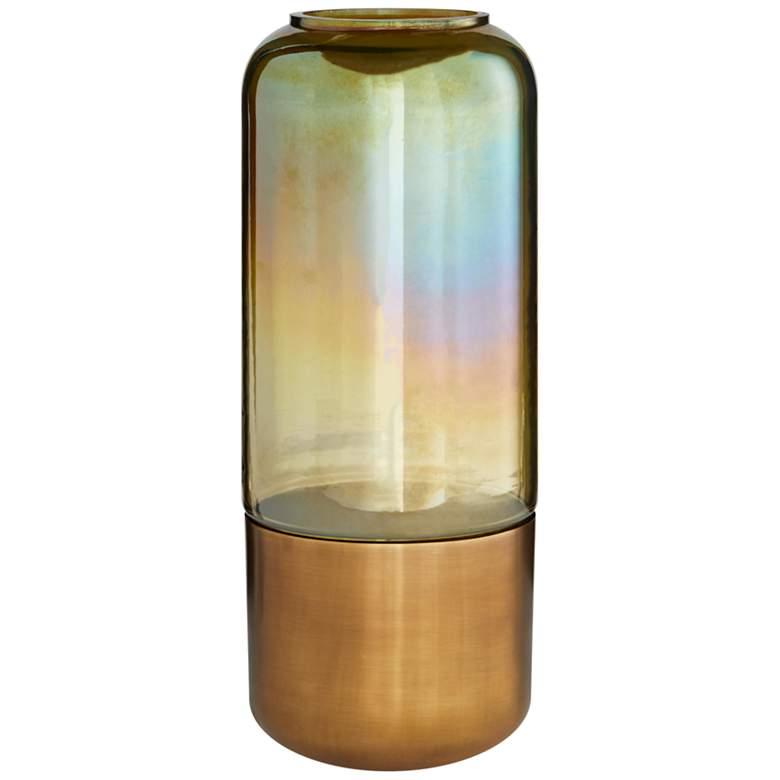 """Arteriors Home Vance 15 1/2""""H Burnt Smoke Luster Glass Vase"""