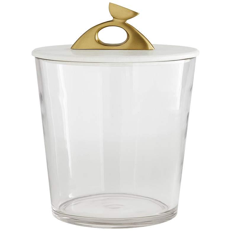 "Arteriors Home 12"" High Wortham Clear Glass Ice Bucket"