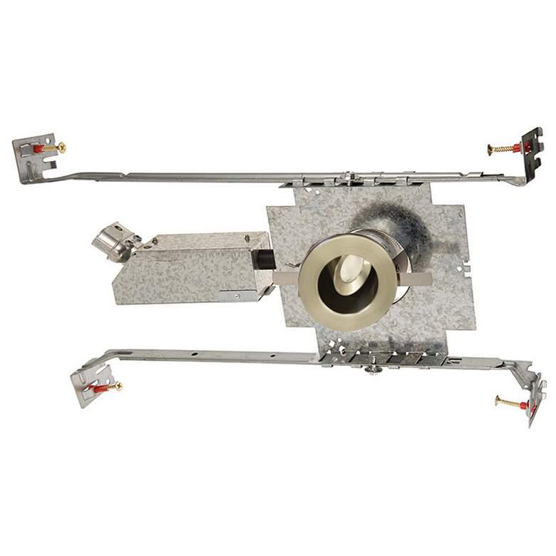 """LEDme 1"""" Round Nickel Mini Adjustable Complete Recessed Kit"""