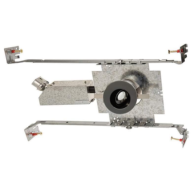 """WAC LEDme 1"""" Round Gunmetal Mini Adjustable Recessed Kit"""