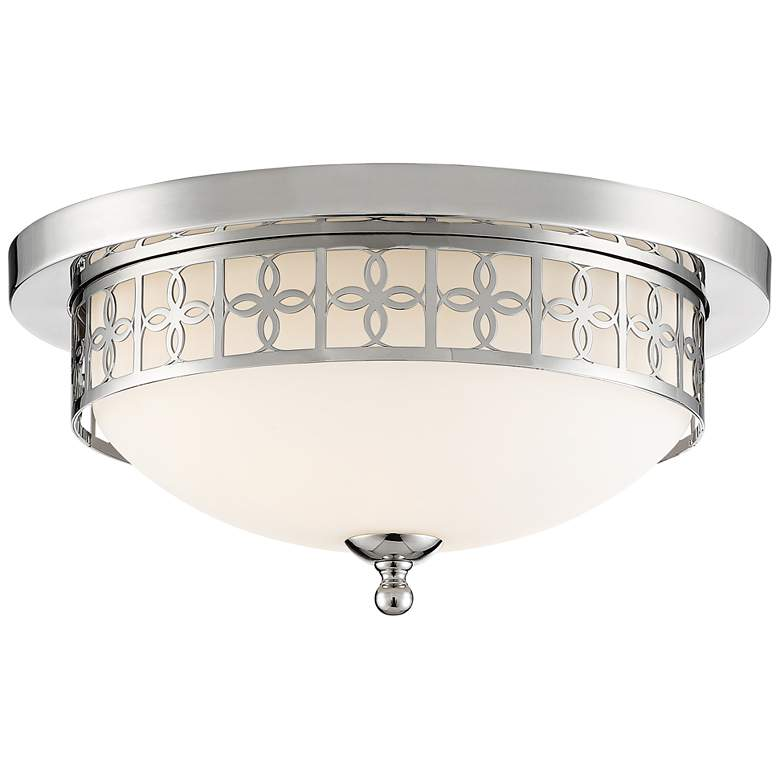 """Anniversary 13 1/2"""" Wide Polished Nickel Ceiling Light"""