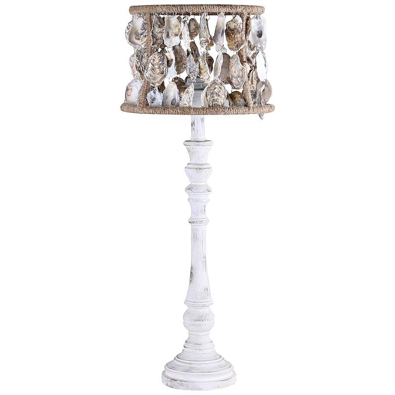 Largo Washed Wood Table Lamp with Shell Shade