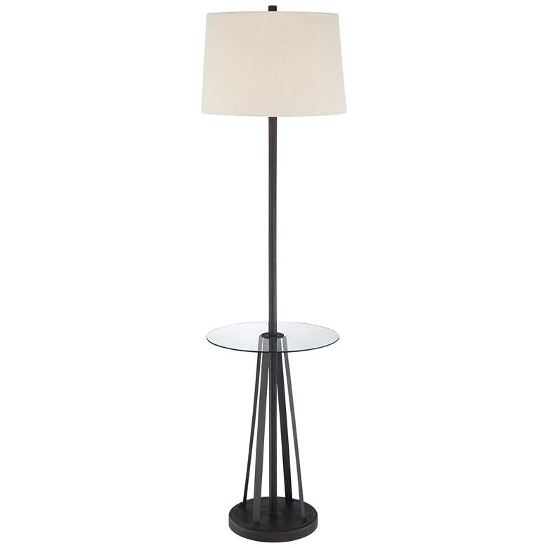 Weston Oil-Rubbed Bronze Floor Lamp with Tray Table