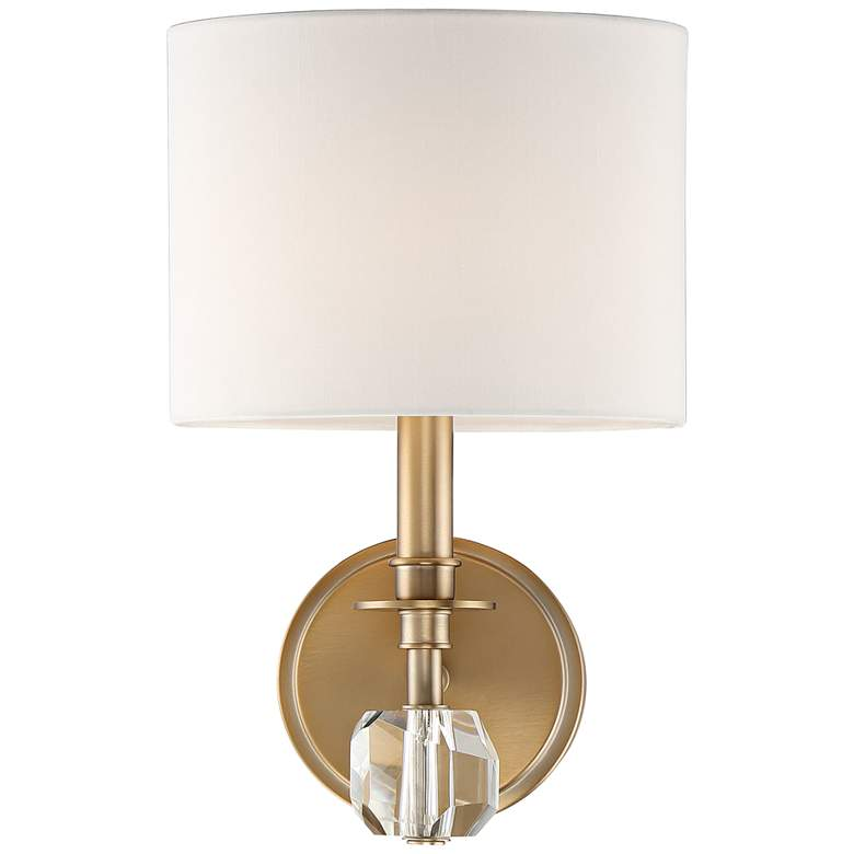"Crystorama Chimes 10 1/4"" High Vibrant Gold Wall Sconce"