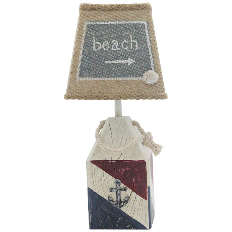 "Buoy 14""H Blue and Red Accent Table Lamp"