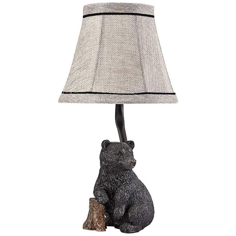 "Smokey Bear 14"" High Black Accent Table Lamp"