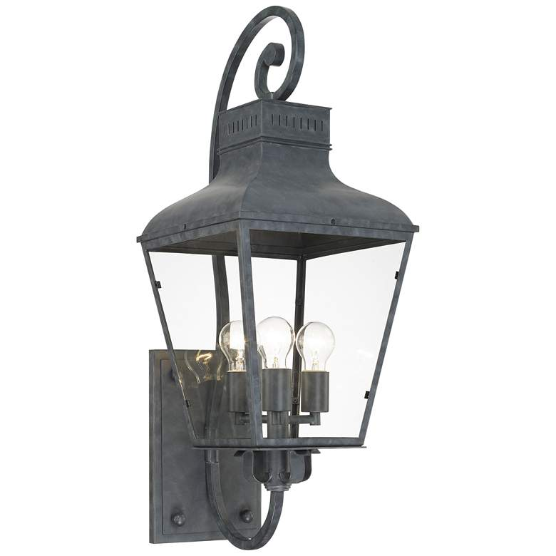 """Crystorama Dumont 32"""" High Graphite Outdoor Wall Light"""