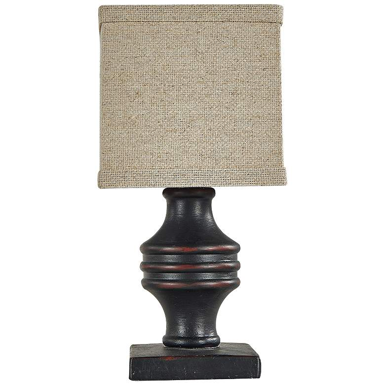 """Arno 12"""" High Black Accent Table Lamp with"""