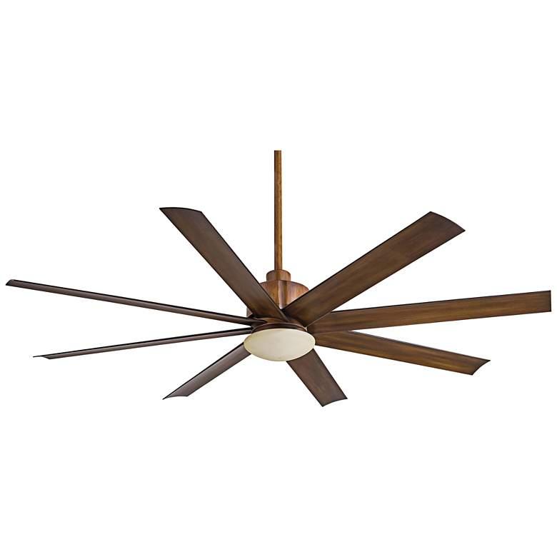 "65"" Slipstream Distressed Koa Brown Outdoor LED Ceiling Fan"