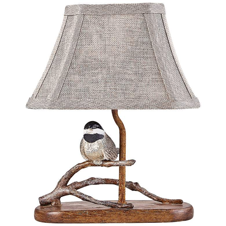 "Birdie 12"" High Brown Accent Table Lamp with"