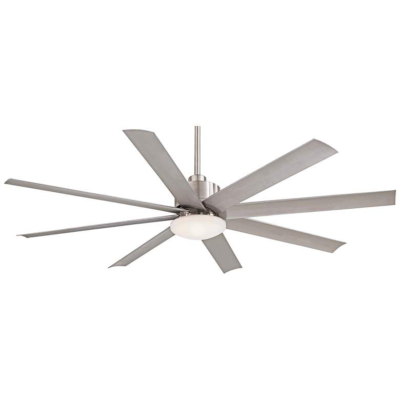 "65"" Slipstream Brushed Nickel Outdoor LED Ceiling Fan"