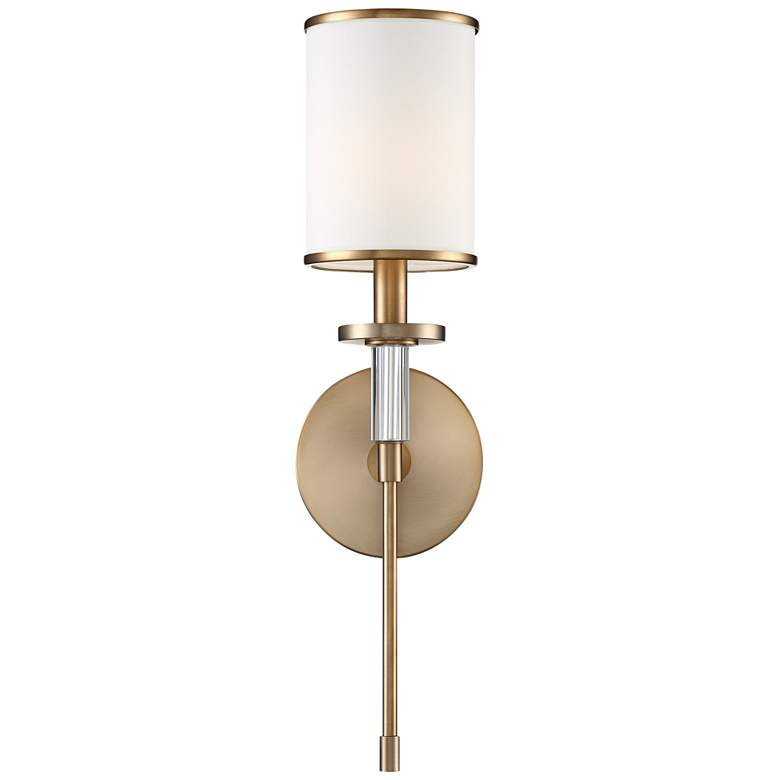 "Crystorama Hatfield 18 1/2"" High Aged Brass Wall Sconce"