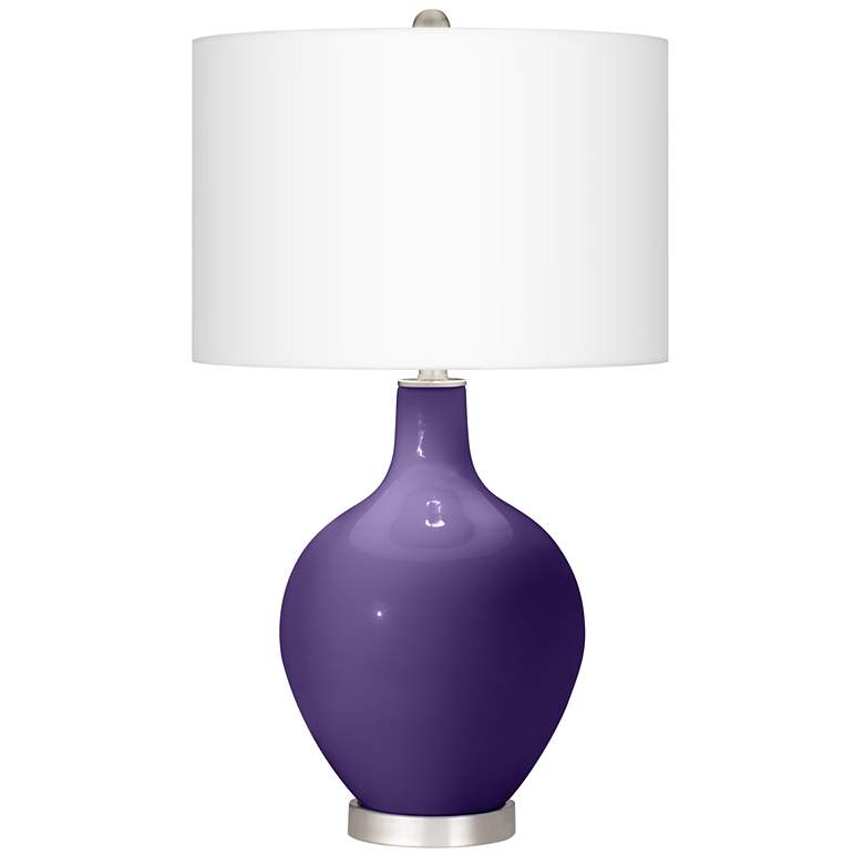 Izmir Purple Ovo Table Lamp With Dimmer