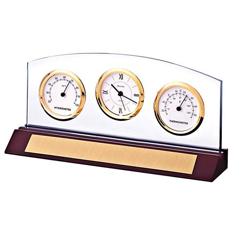 Bulova Weston Executive Desk Clock