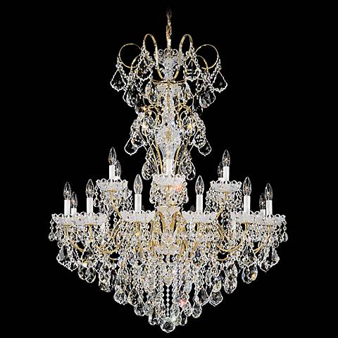 """Schonbek New Orleans Collection 36"""" Wide Crystal Chandelier"""