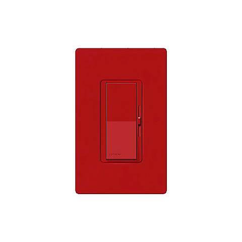 Lutron Diva SC 600W Single Pole Hot Red Dimmer