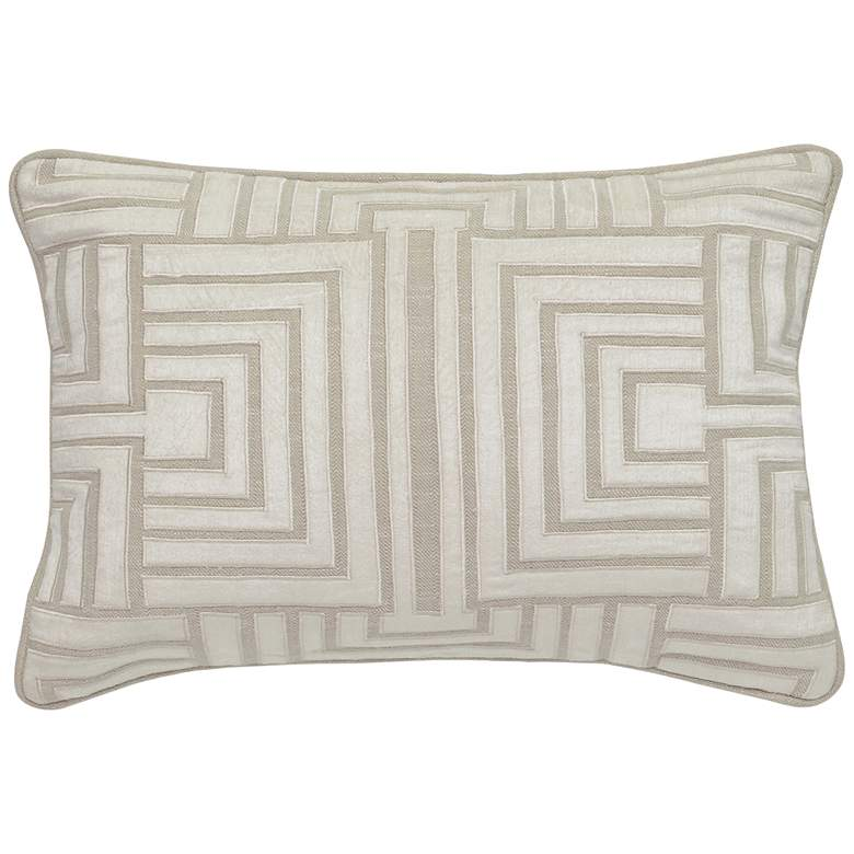 "Selma Natural and Ivory 20"" x 14"" Decorative Pillow"