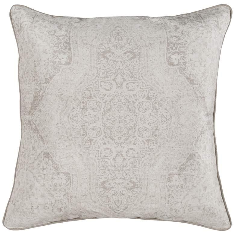 "Loren Natural 22"" Square Decorative Pillow"
