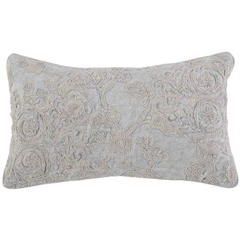 "Sundance Gray 26"" x 14"" Decorative Pillow"