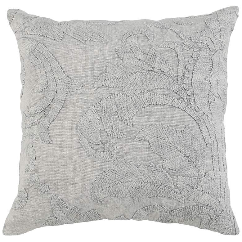 "Laurel Gray 22"" Square Decorative Pillow"