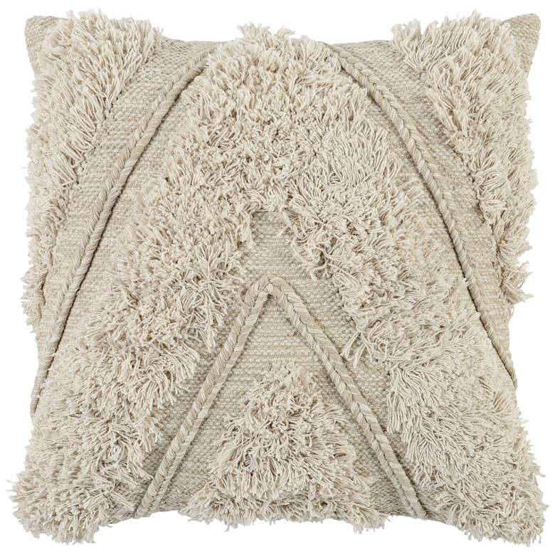 """Sedona Natural and Ivory 22"""" Square Decorative Pillow"""